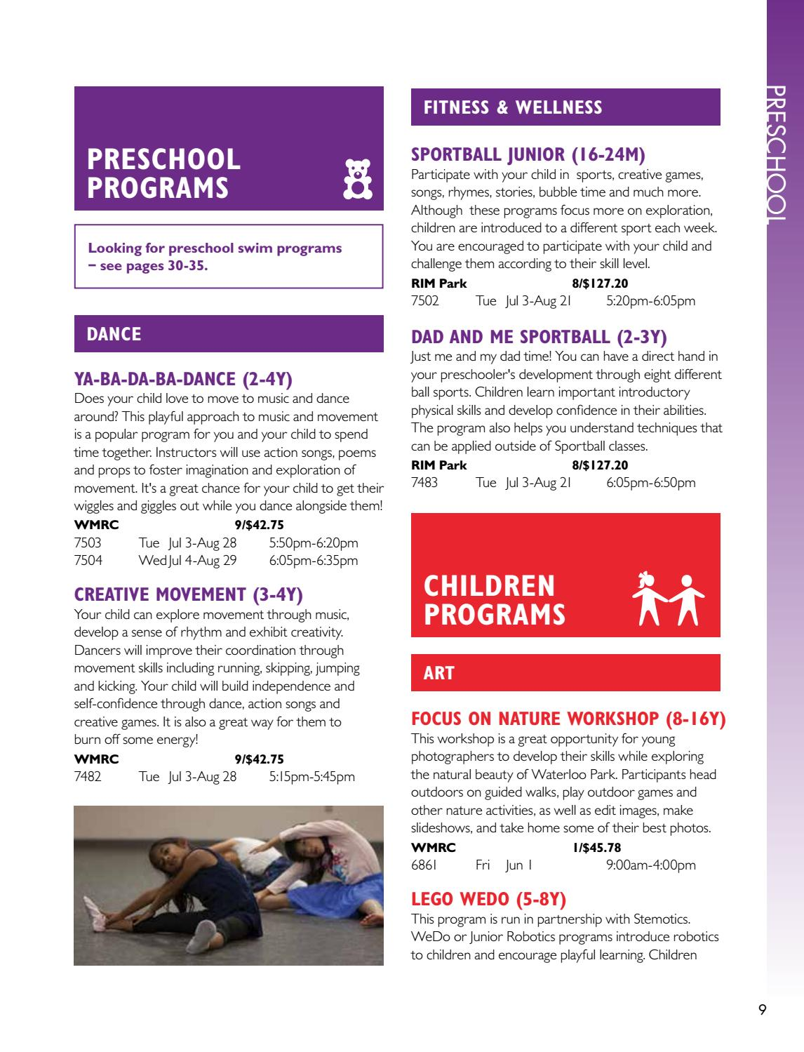 Why Young Kids Learn Through Movement >> Summer 2018 Program Activities Guide By City Of Waterloo Issuu