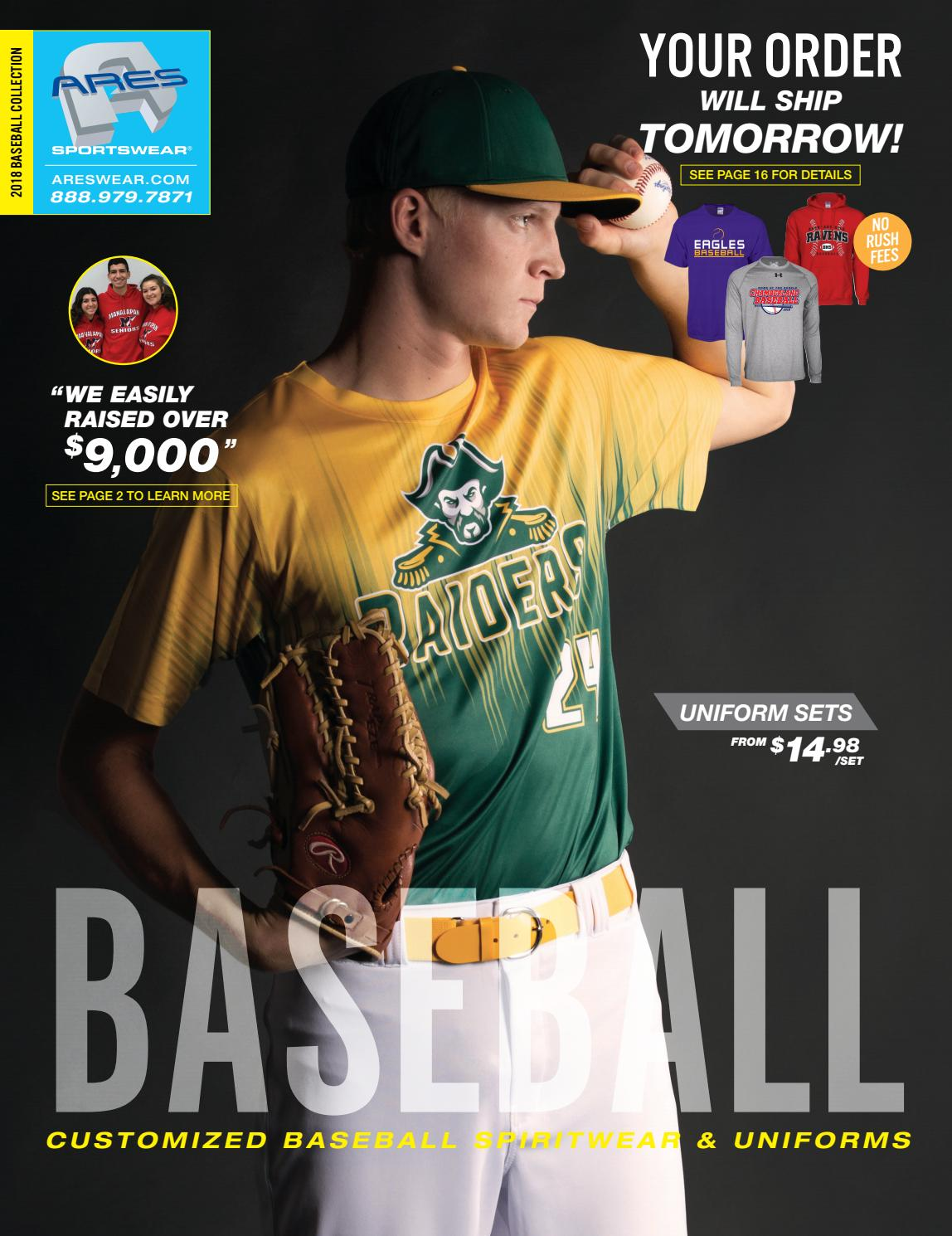 0e352552 2018 Ares Sportswear Baseball Catalog by Ares Sportswear - issuu