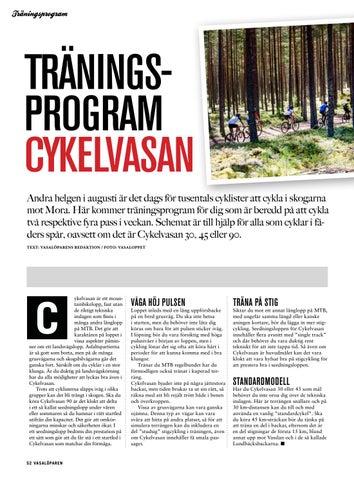 Page 52 of Träningsprogram Cykelvasan