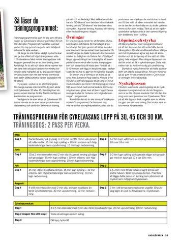 Page 53 of Träningsprogram Cykelvasan