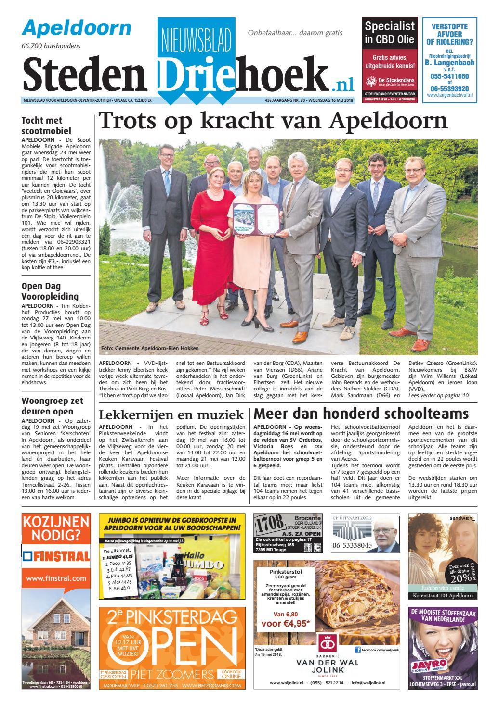 5639635d83c Nieuwsblad stedendriehoek apeldoorn wk20 by Uitgeverij Stedendriehoek -  issuu