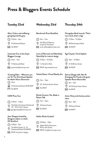 Page 4 of Press events & Schedule
