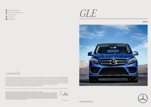 2018 Mercedes-Benz GLE Brochure by Stewarts Automotive - issuu