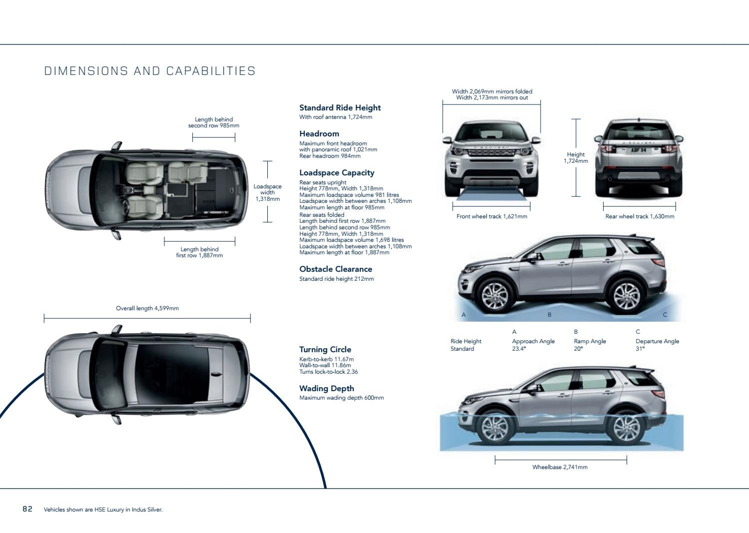 2018 land rover discovery sport brochure by stewarts - Land rover discovery interior dimensions ...