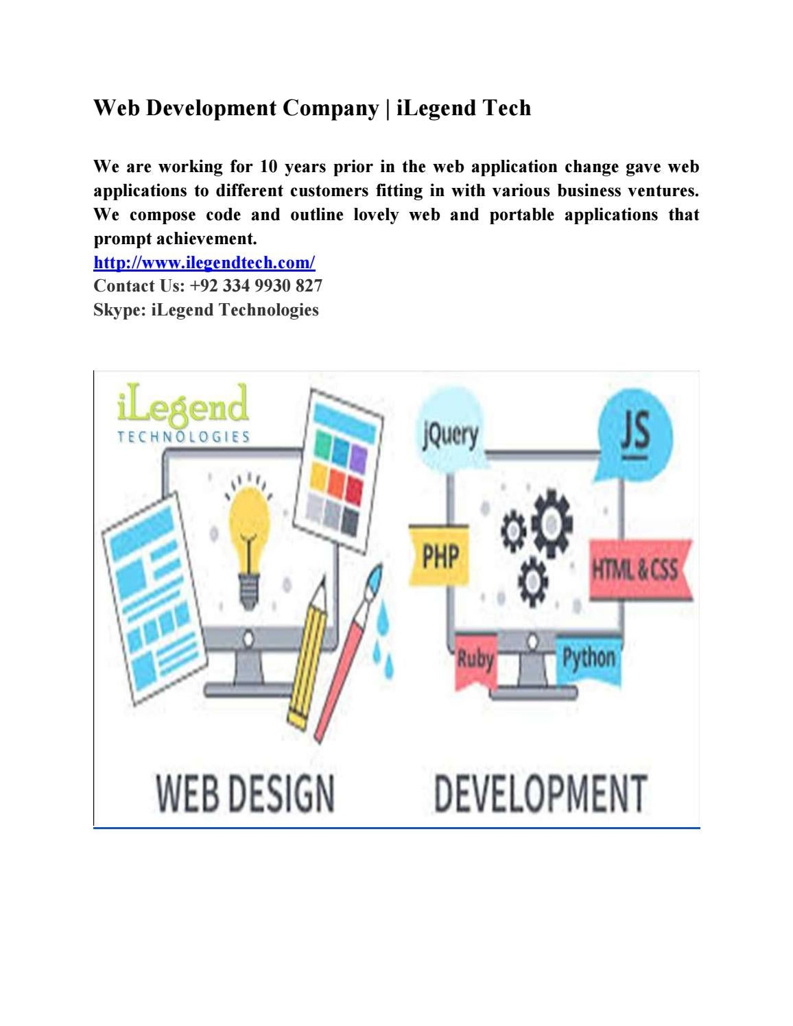 Web development company | ilegend tech by samanasajid0 - issuu