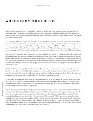 Page 5 of Words from the Editor