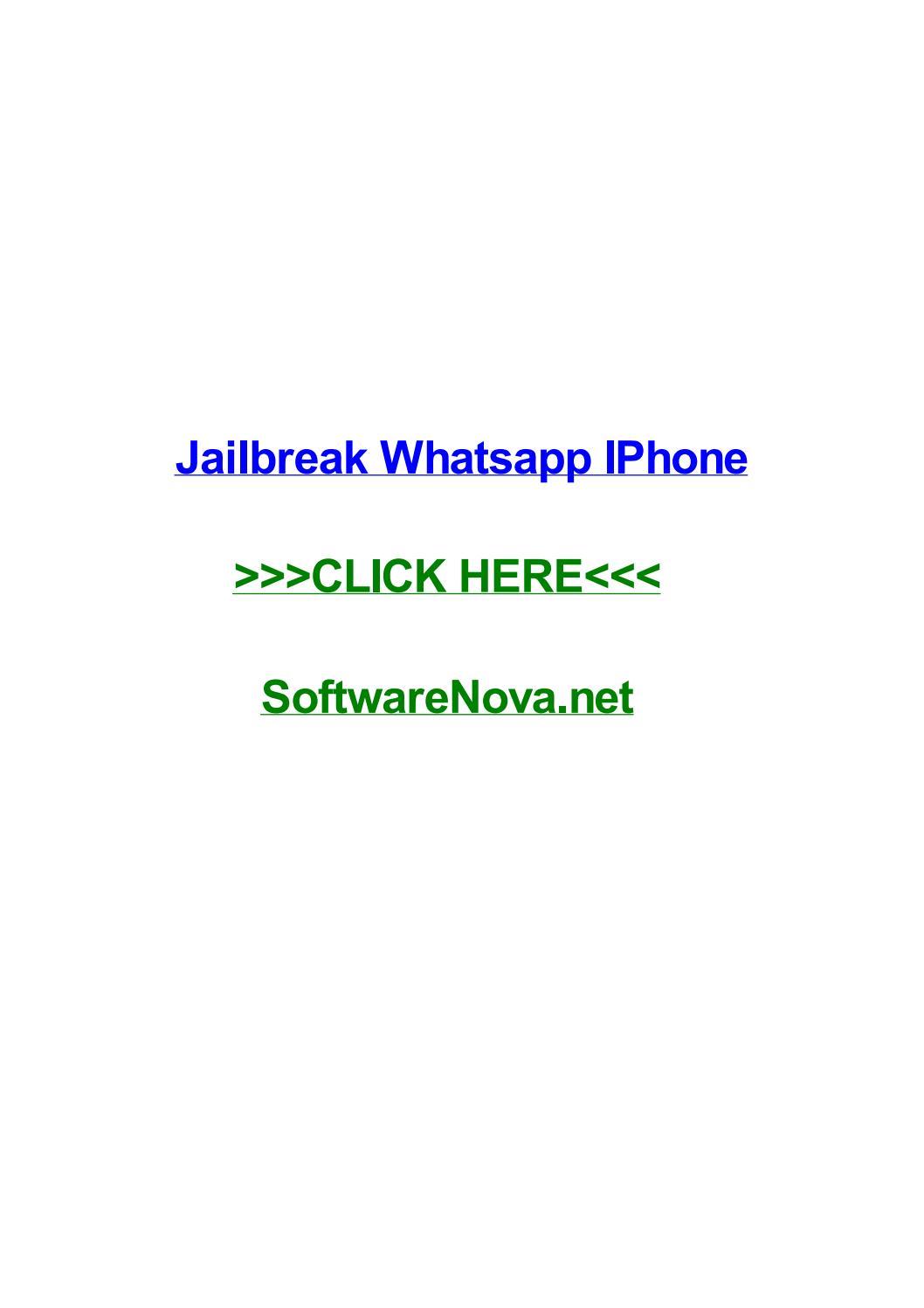 Jailbreak Whatsapp Iphone By Toddxuxf Issuu
