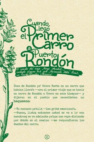 Page 8 of Cuando llegó el primer carro a Rondón