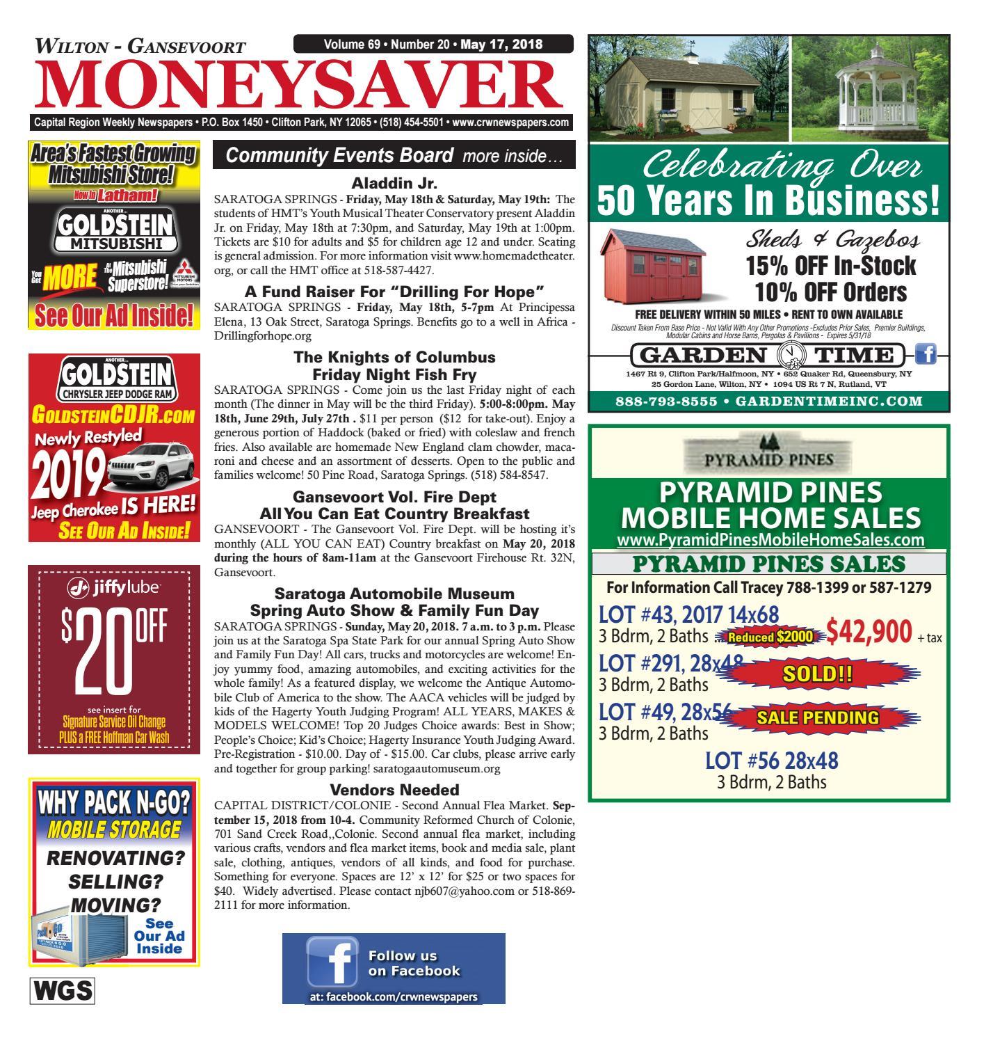 Wilton Gansevoort Moneysaver 051718 by Capital Region Weekly Newspapers - issuu