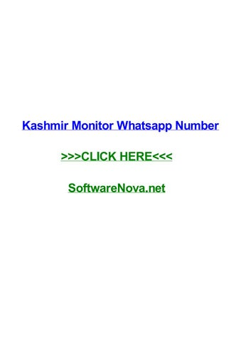 Kashmir monitor whatsapp number by melissawvbw - issuu