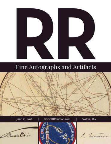 RR Auction Fine Autographs And Artifacts Featuring Science