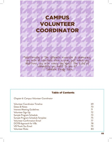 Page 71 of Volunteer Coordinator
