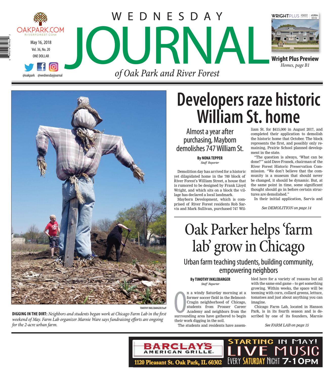 Wednesday Journal 051618 by Wednesday Journal - issuu