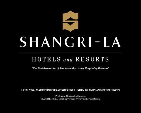 shangri la hotel strategy