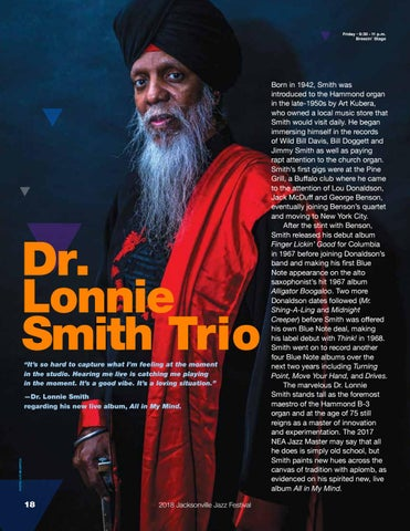 Page 18 of Dr. Lonnie Smith Trio