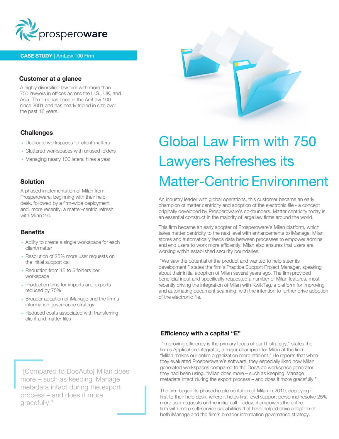 Amlaw Case Study by prosperoware - issuu
