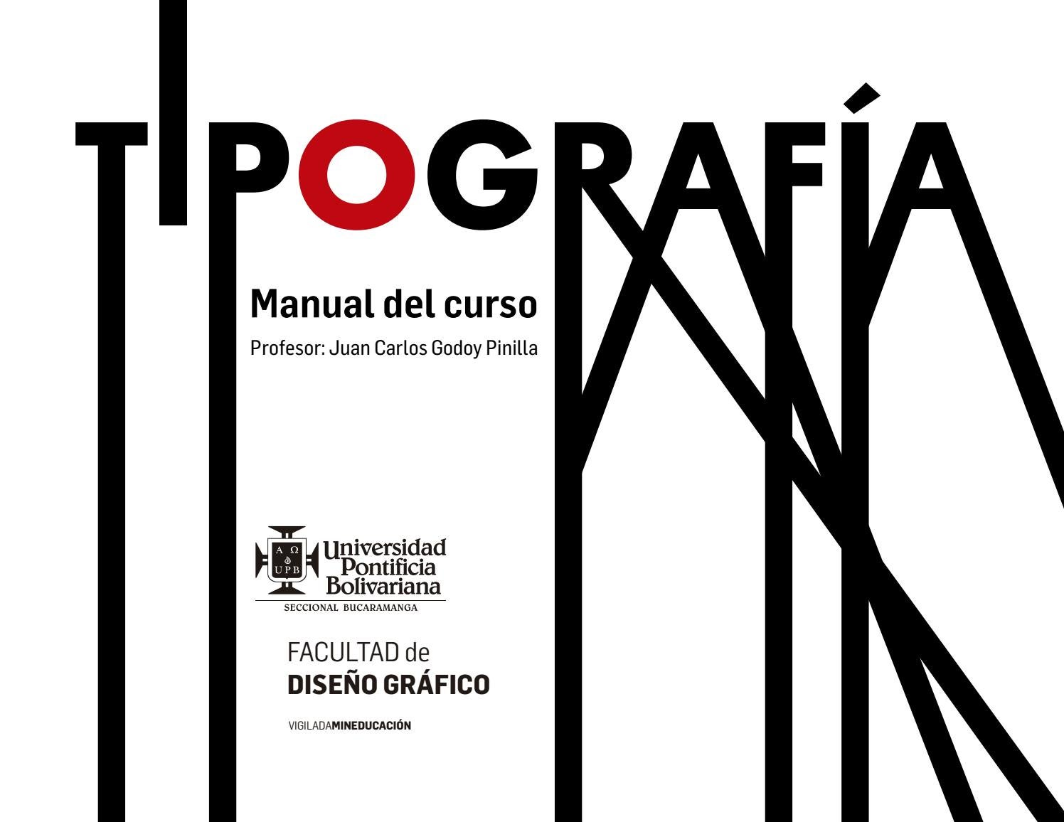 Manual Curso Tipografia By Juan Carlos Godoy Issuu