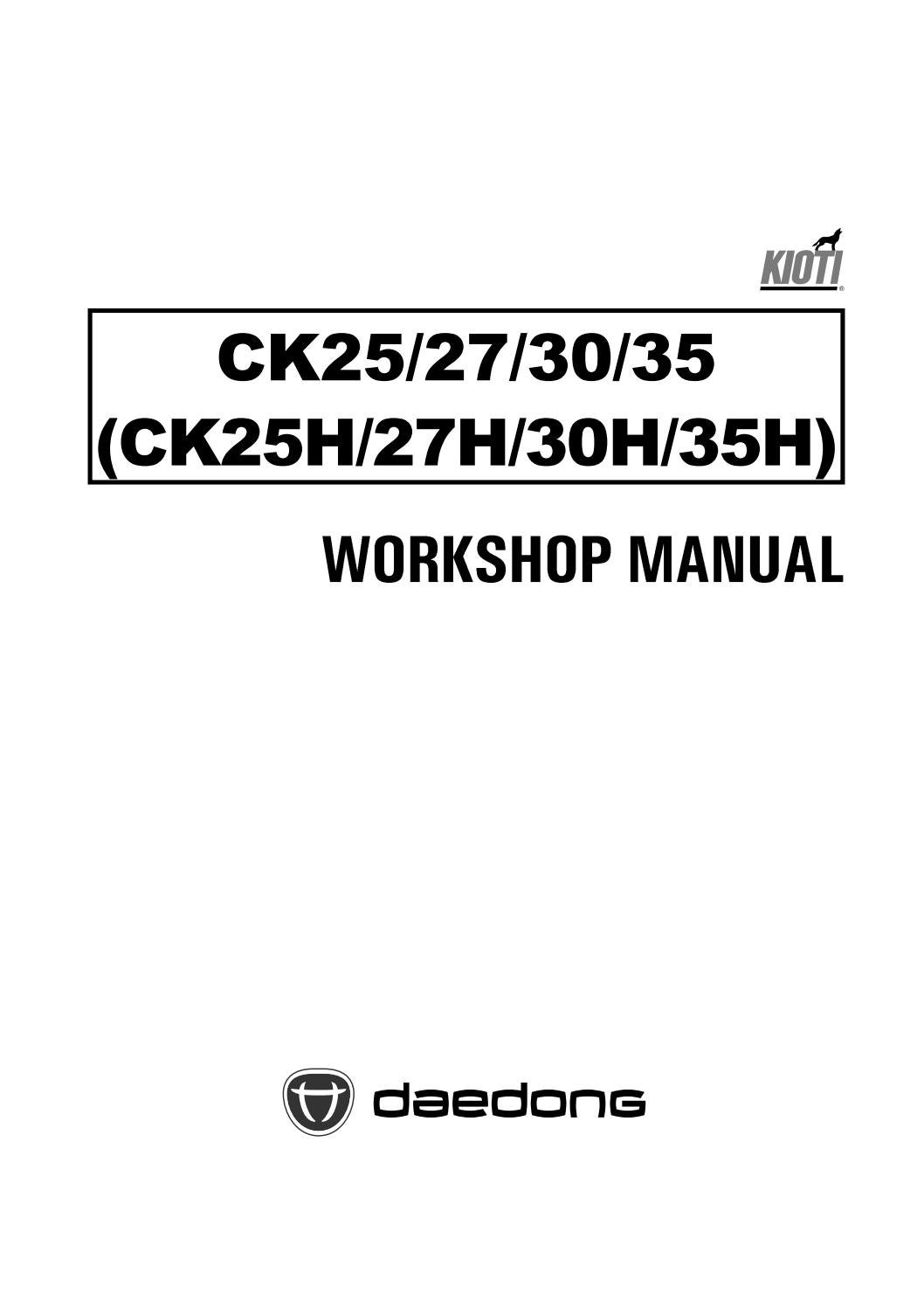 Kioti Daedong Ck35 Tractor Service Repair Manual By 163757 Issuu