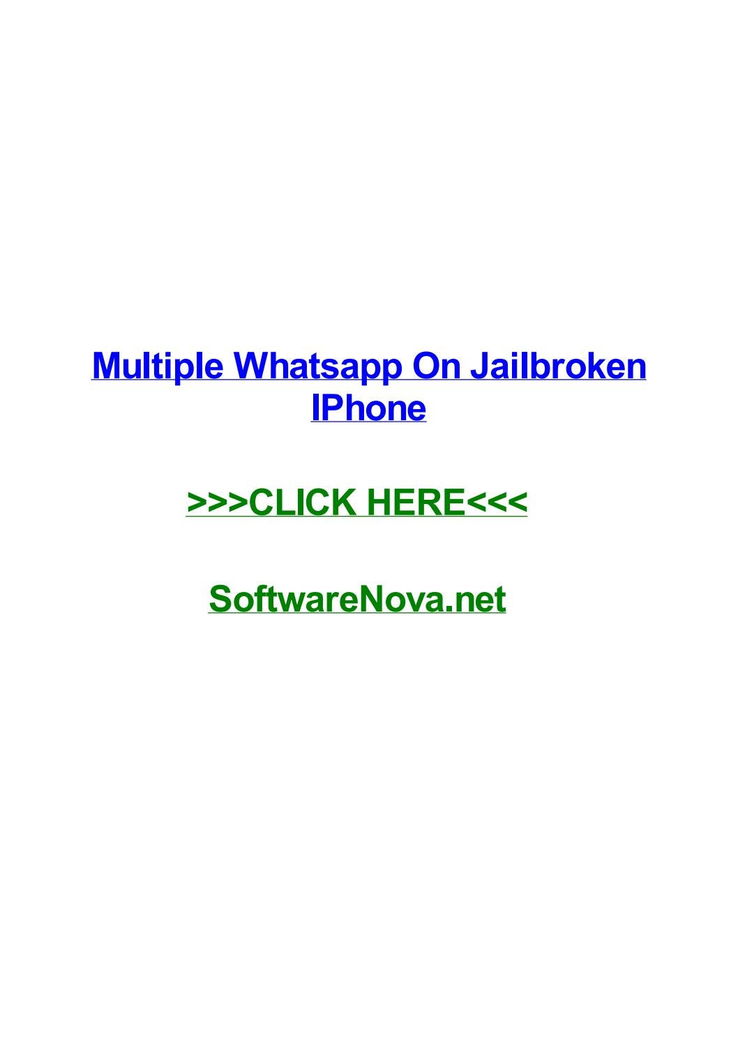 Multiple Whatsapp On Jailbroken Iphone By Amymczp Issuu