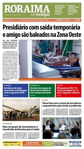 Jornal roraima em tempo – edição 934 by RoraimaEmTempo - issuu 6552ddd8ff92e