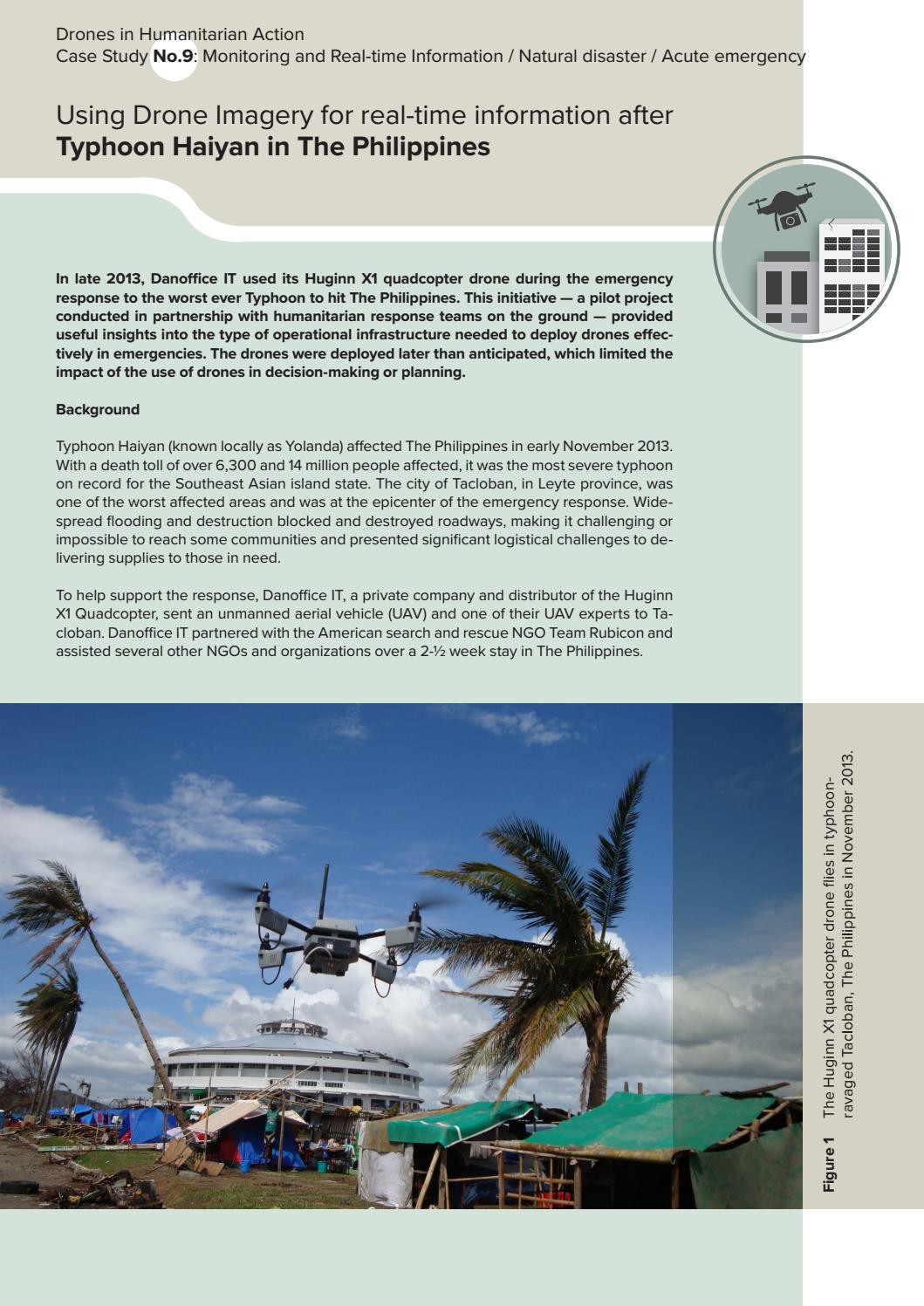 Drones in Humanitarian Action, Case Study 9: the Philippines