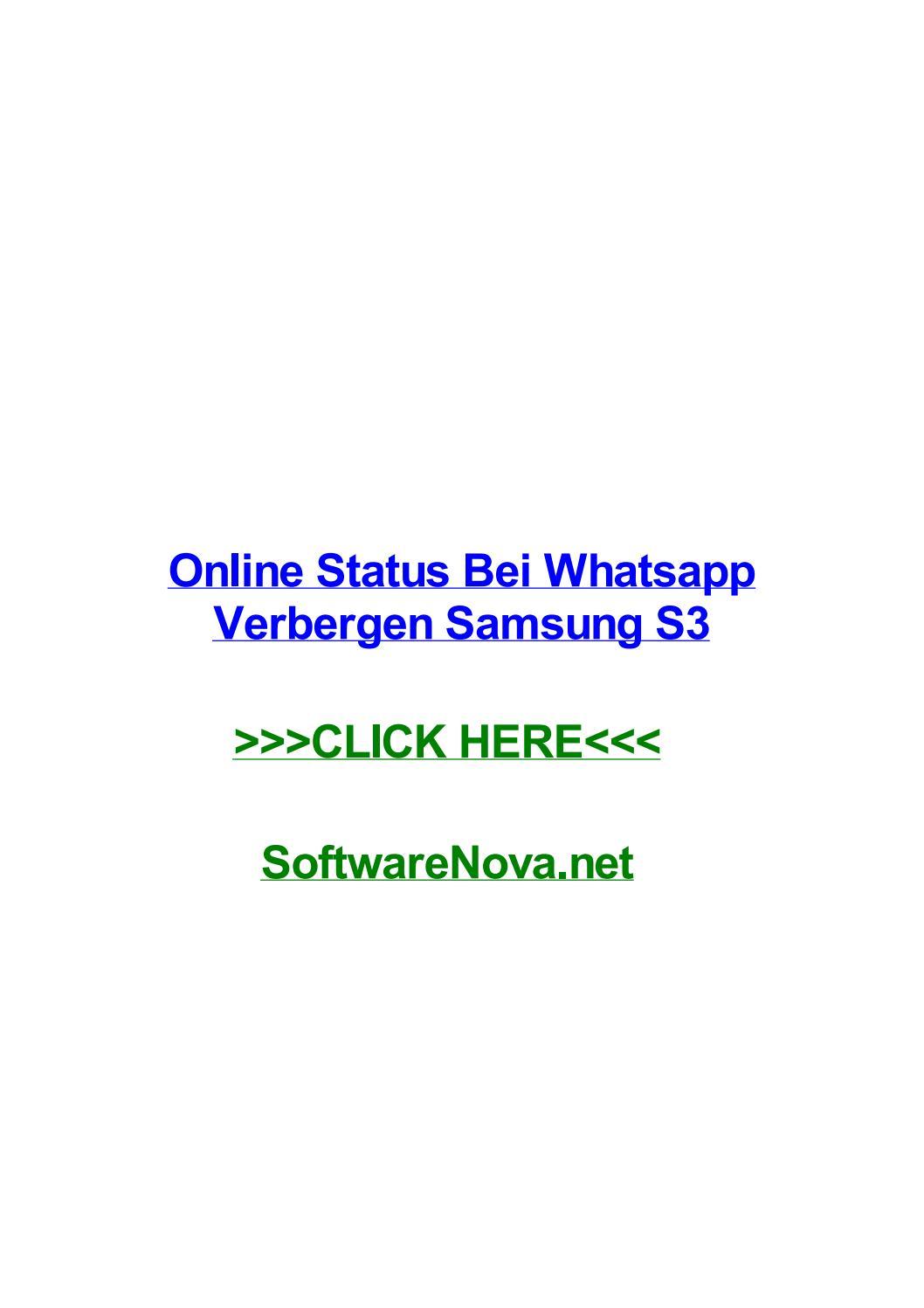 Online Status Bei Whatsapp Verbergen Samsung S3 By Leahyxxw