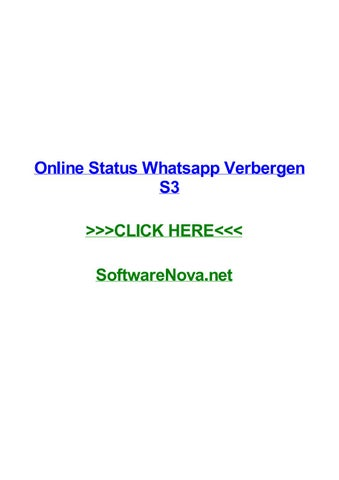 Online Status Whatsapp Verbergen S3 By Rodriqueonyur Issuu