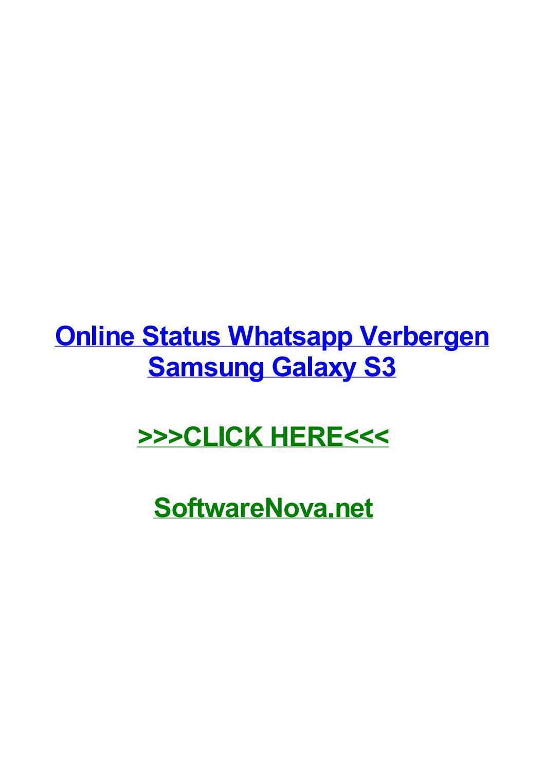 Online Status Whatsapp Verbergen Samsung Galaxy S3 By