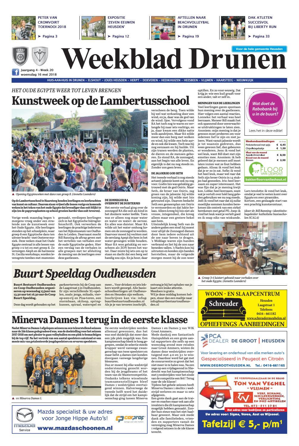 bdb5cab0b53 Weekblad Drunen 16-05-2018 by Uitgeverij Em de Jong - issuu