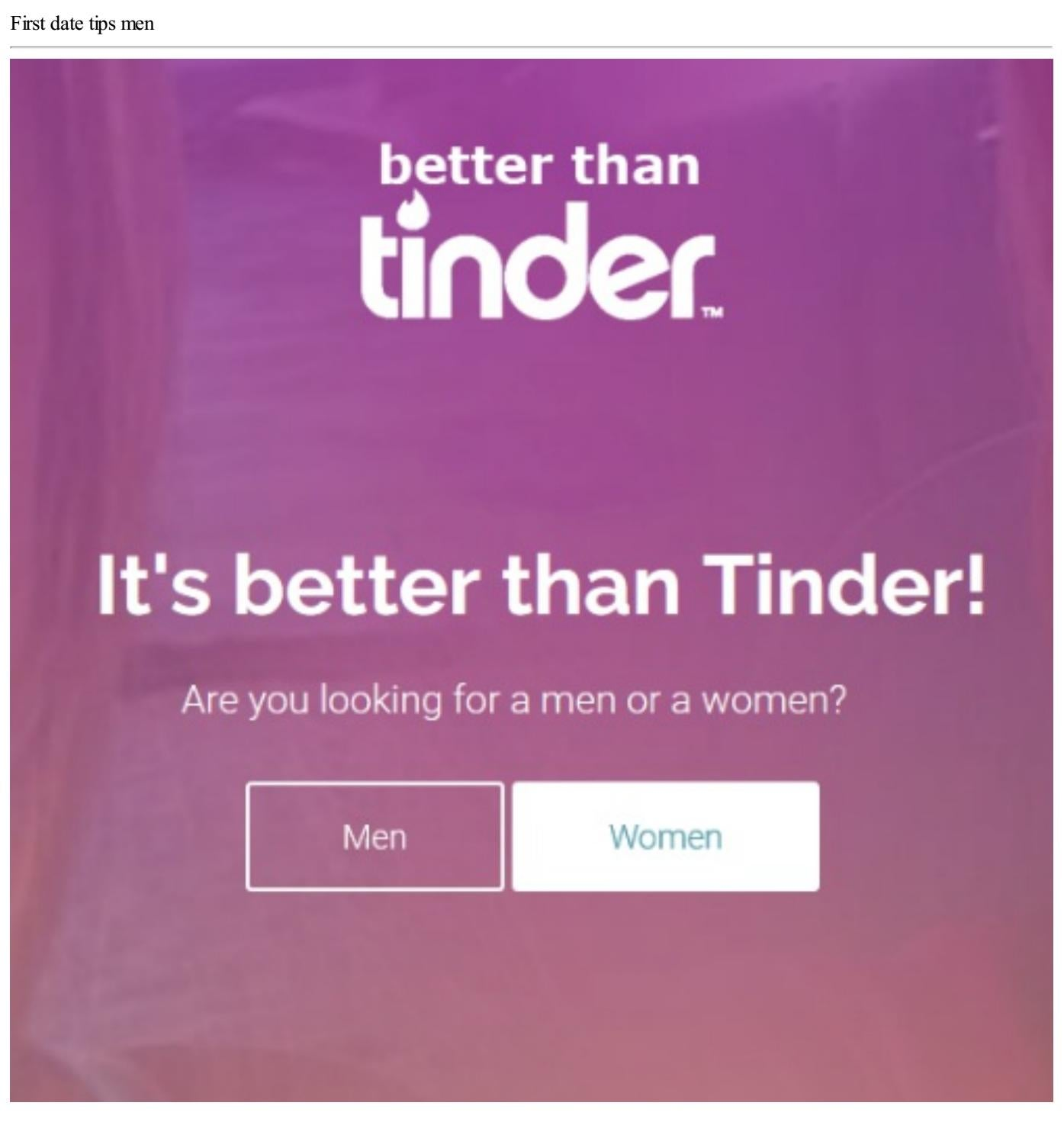 tips for a first date from tinder