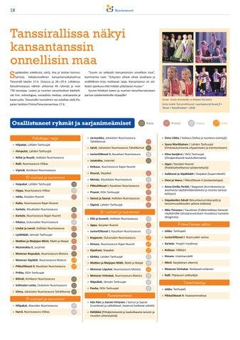 Page 18 of Tanssirallissa näkyi kansantanssin onnellisin maa