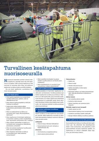 Page 22 of Järjestä turvallinen kesätapahtuma!