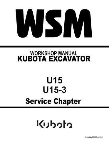 Kubota u15 3 micro excavator service repair manual by 163757 - issuu