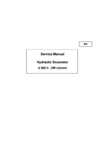 Liebherr a900c zw litronic hydraulic excavator service repair manual