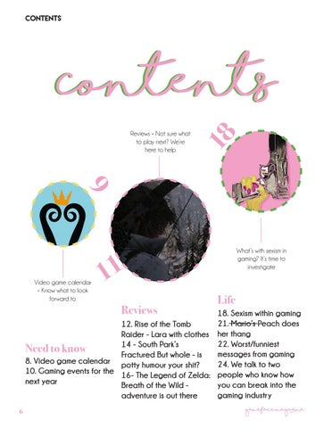 Page 6 of Contents