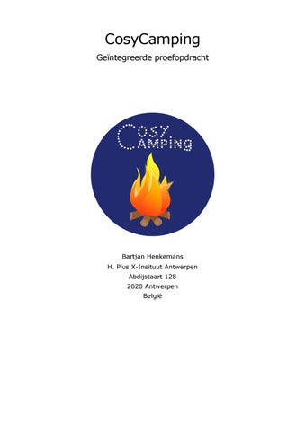 a4994dc381b Geïntegreerde proefopdracht CosyCamping Bartjan Henkemans 2018 by ...