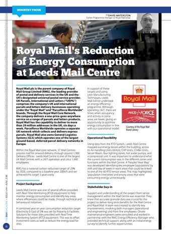 Page 18 of Royal Mail's Reduction of Energy Consumption  at Leeds Mail Centre