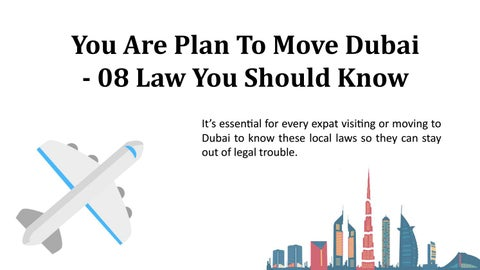 Page 1 of You are plan to move dubai 08 law you should know