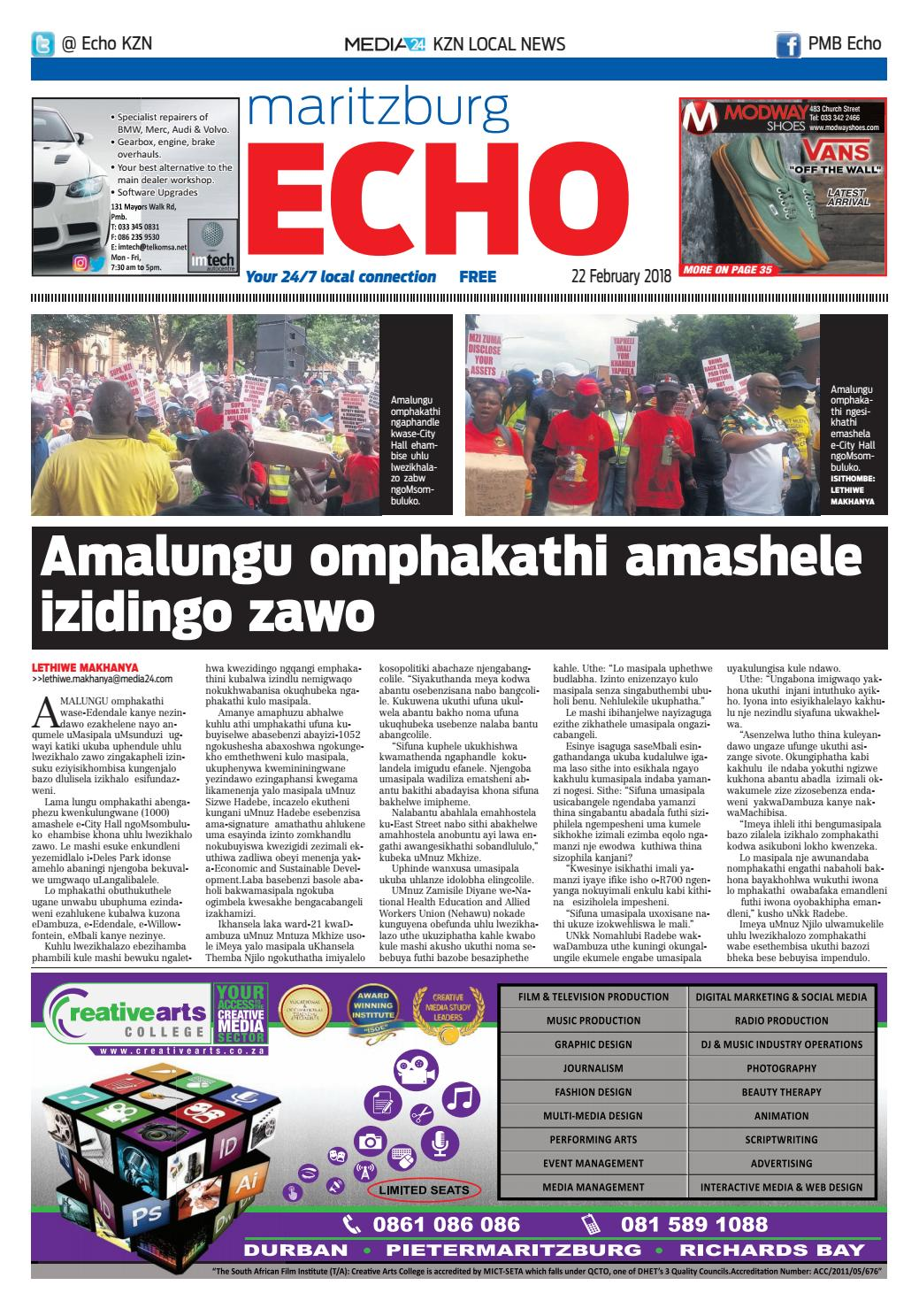 Maritzburg Echo 23/02/2018 by Claudia Banha - issuu