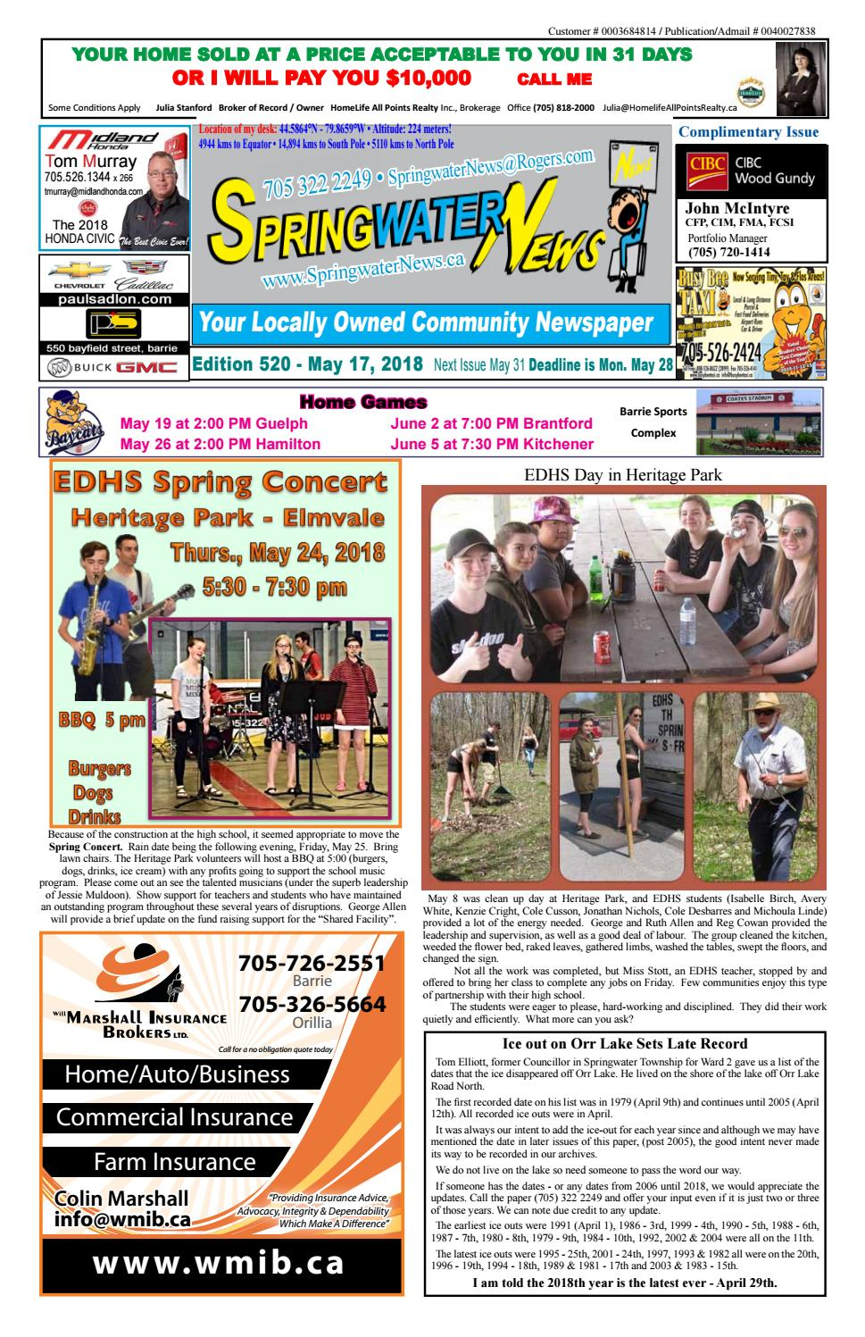 May 17 2018 Edition 521 For Web By Springwater News Issuu