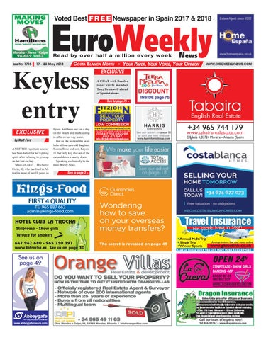 fb1e49a4ea4b2 Euro Weekly News - Costa Blanca North 17 - 23 May 2018 Issue 1715 by ...
