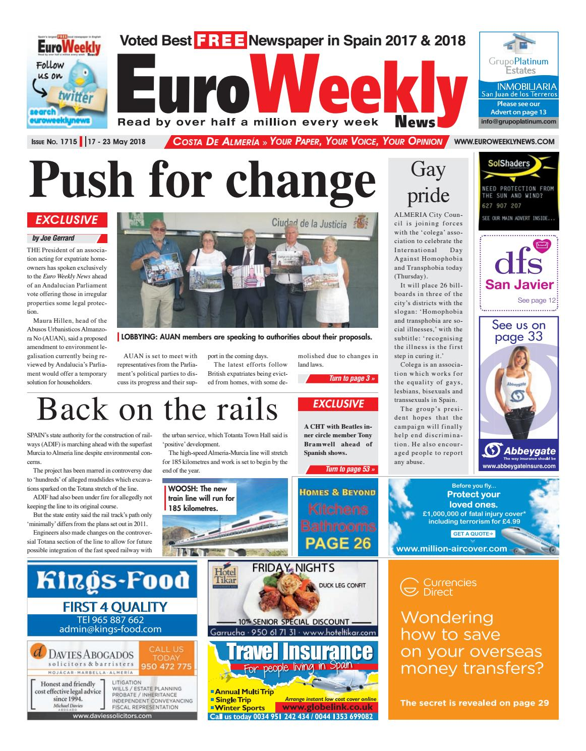 Euro Weekly News Costa De Almeria 17 23 May 2018 Issue