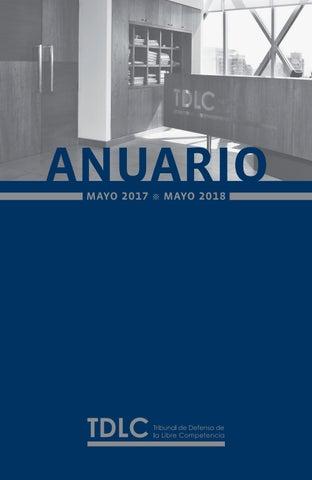 cd85e98aaca Anuario 2018 by Tribunal de Defensa de la Libre Competencia Chile ...