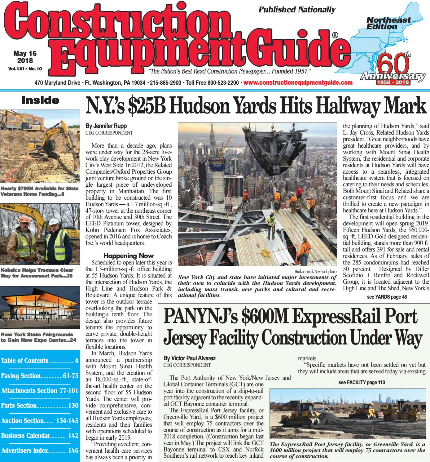 Northeast 10 May 16, 2018 by Construction Equipment Guide