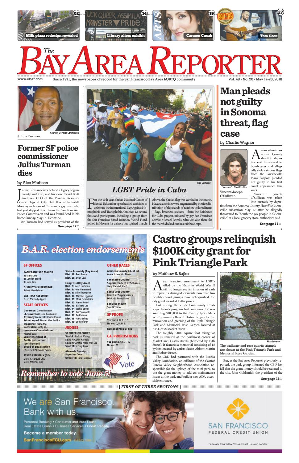 May 17 2018 Edition of the Bay Area Reporter by Bay Area Reporter - issuu 2d152bb7414