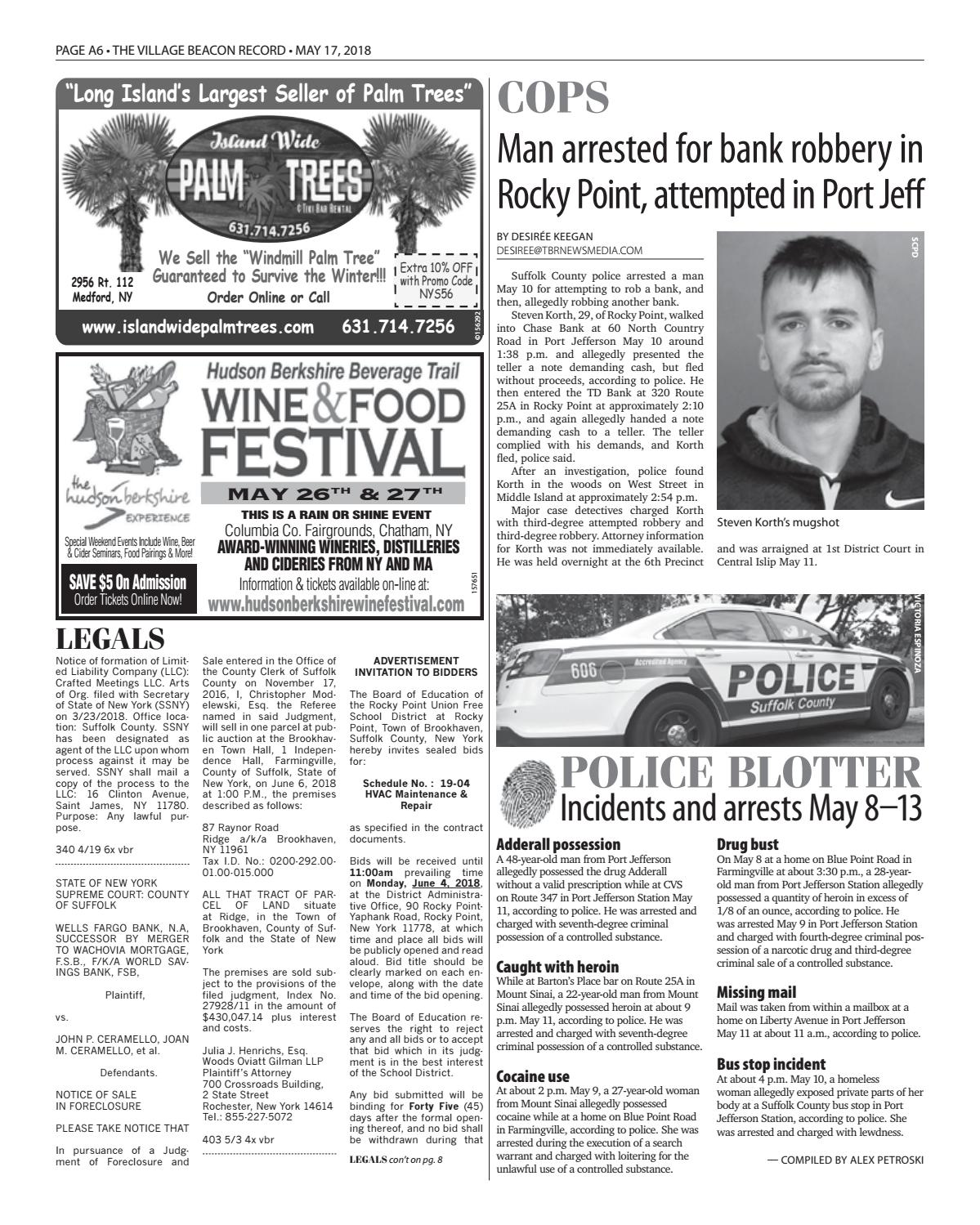 The Village Beacon Record - May 17, 2018 by TBR News Media