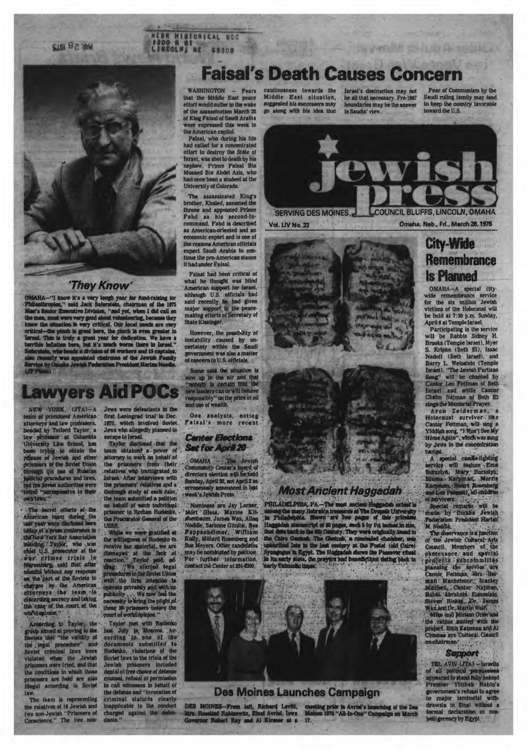 March 28 1975 by Jewish Press
