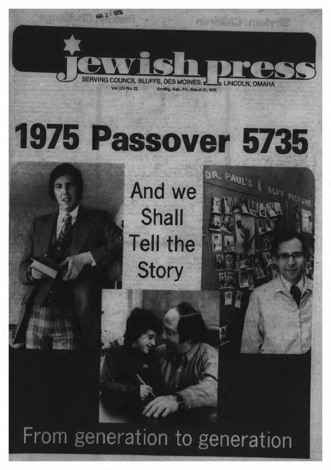 March 21, 1975: Passover Edition by Jewish Press - issuu