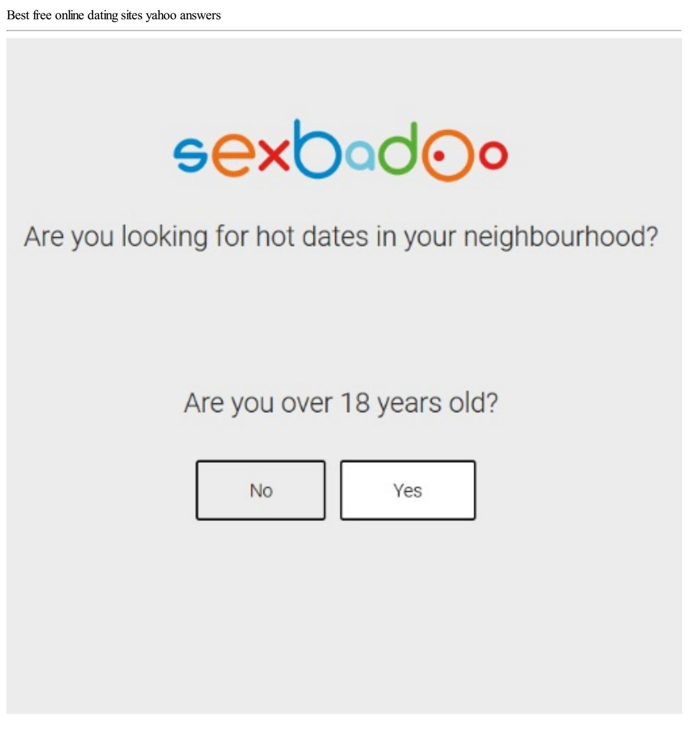 Best dating sites yahoo answers