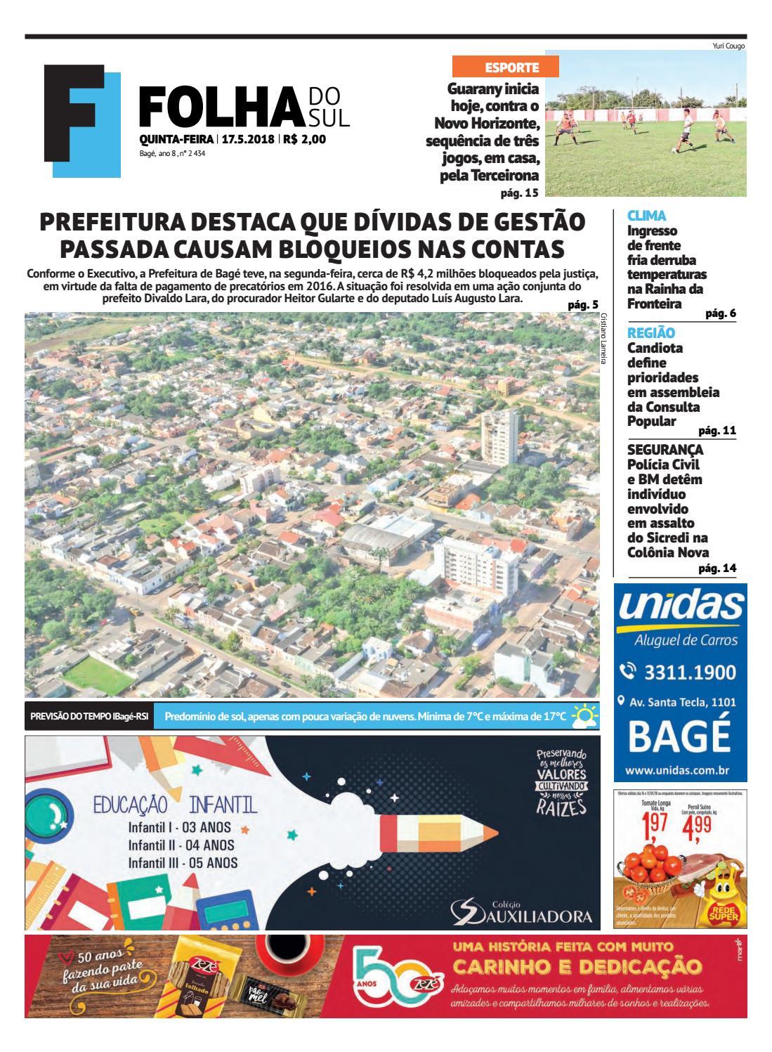 7f20700b1 Jornal Folha do Sul, 17 de maio de 2018 by Folha do Sul Gaúcho - issuu